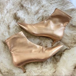 Free People Marilyn Kitten Boots Rose Gold size 11